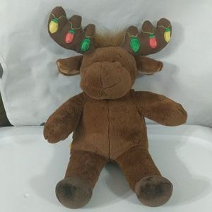 Build a Bear Holiday Moose w/ Light Up Antlers